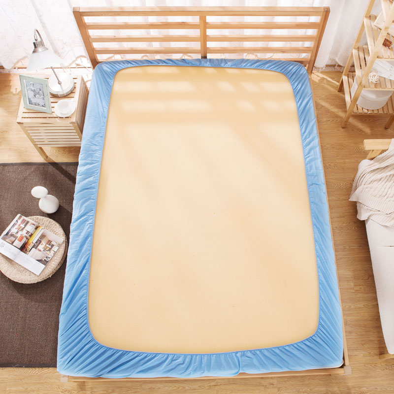 Frosted solid Color Bed sheet bedspread Brown cushion cover Mattress Protector 1 8 m non slip polyester dust proof in Bedspread from Home Garden