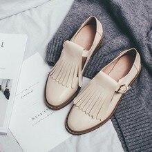 Ленточки блестящие лакированные кожаные туфли для Для женщин Сплошной Цвет Весенняя мода пряжки Повседневное тонкие туфли черный Туфли без каблуков Sapato Feminino