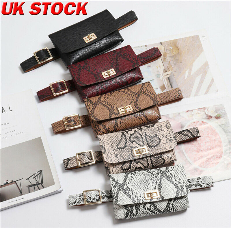 Women Snake Printing Waist Packs Ladies Fanny Pack Belt Bag Pouch Travel Hip Bum Bag Women Small Purse Girl Chest Summer Bag