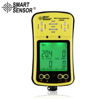 SMART SENSOR 4 in 1 Multi gas analyzer Oxygen O2 Hydrothion H2S Carbon Monoxide CO Combustible Handheld gas detector tester