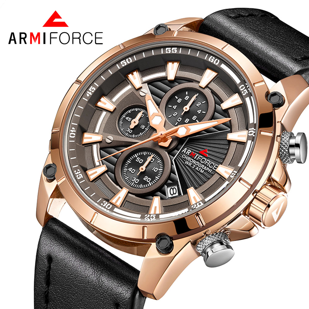 ARMIFORCE Relojes 2018 Watch Men Fashion Sport Quartz Clock Mens Watches Top Brand Luxury Waterproof Watch Relogio Masculino