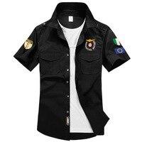 Nieuwe Plus Size Luchtmacht Een Elastische Ademend Katoen Heren Overhemden 2016 Zomer Mannelijke Militaire Serie Casual Shirt, UMA152