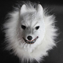 EVA Raw Animal Mask Tiger/Lion/Monkey/Wolf Partern Full Face Cosplay Halloween Costume Realistic Fur Mane Latex Creepy New