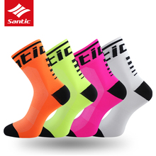 Santic-Calcetines para ciclismo, para deportes al aire libre y antisudor, transpirables, para hombre y mujer