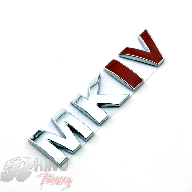 Rhino Tuning MKIV Emblem Chrome Trunk Boot Car Sticker MK Series for Tiguan Bora Polo Golf 4 MK4 MKIV Car Rear Badge 466 car styling for mercedes benz g series w460 w461 w463 g230 g300 g350 chrome number letters rear trunk emblem badge sticker