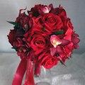 2016 красный свадебные цветы элегантный 3 шт. свадебный рука цветок / запястье цветок / корсаж свадьба комплект аксессуаров искусственный букет