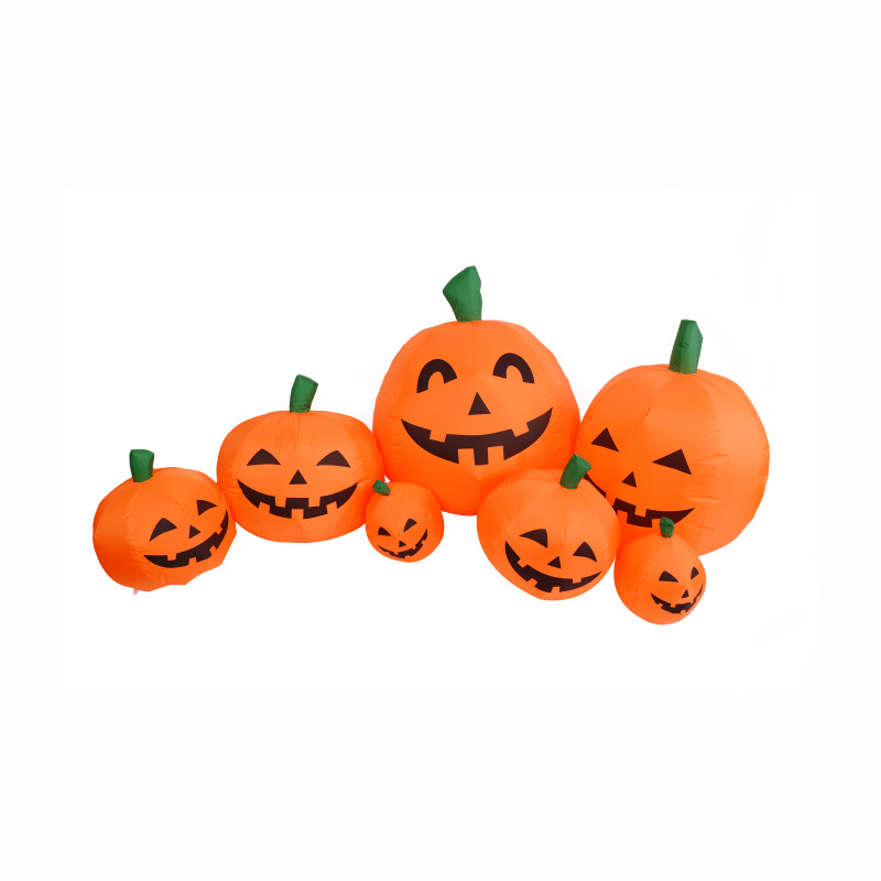 240cm Giant Pumpkin Lantern Halloween Inflatable Toys New Year Party Props For Children Christmas Gift Yard Garden Deco Blow Up
