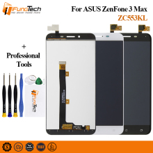 Free Ship A+ LCD For ASUS Zenfone 3 Max ZC553KL LCD Display Touch Screen Assembly Digitizer For ASUS Zenfone 3 ZC553KL X00DD LCD asus zenfone 3 max zc553kl 32gb silver 4j027ru