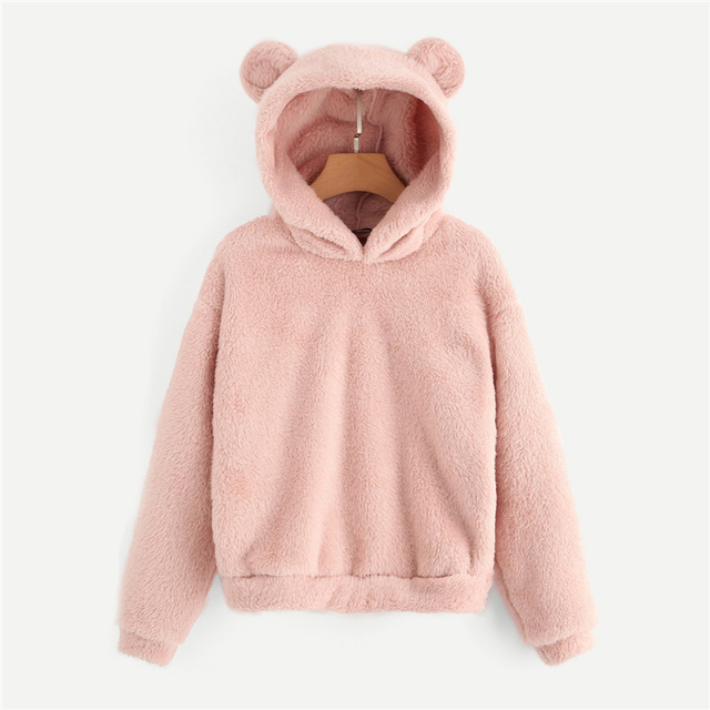 Pullover hoodie Teddy Osito casual otoño