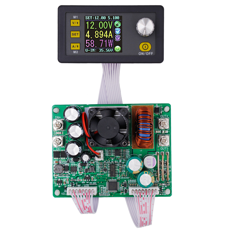 5pcs/lot DPS5015 Constant Voltage current Step-down Programmable Power Supply module buck Voltage converter color LCD voltmeter solar energy wind power regulator charging automatic buck voltage constant voltage constant current adjustable power supply