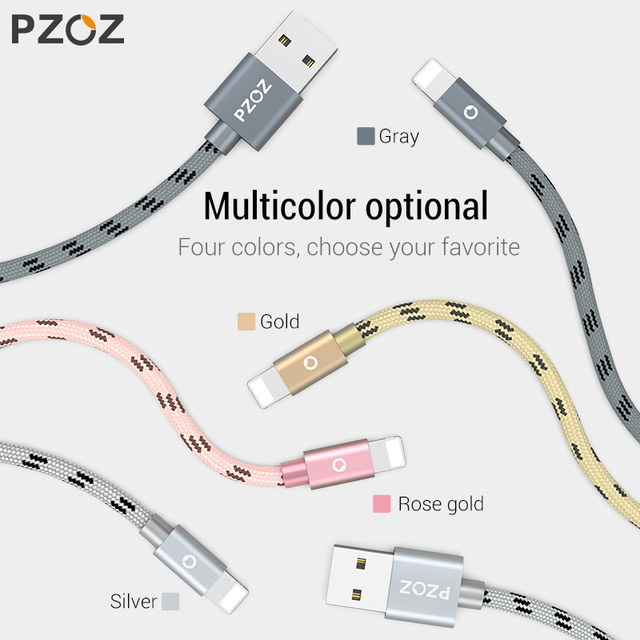 PZOZ Usb Cable For iphone cable 11 pro max Xs Xr X SE 2 8 7 6 plus 6s 5s ipad air mini 4 fast charging cables For iphone charger 5