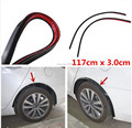 Ssangyong Korando newest 2pc117cm Car Fender Flare Wheel Eyebrow  Protector Lip Wheel-arch Trimfor