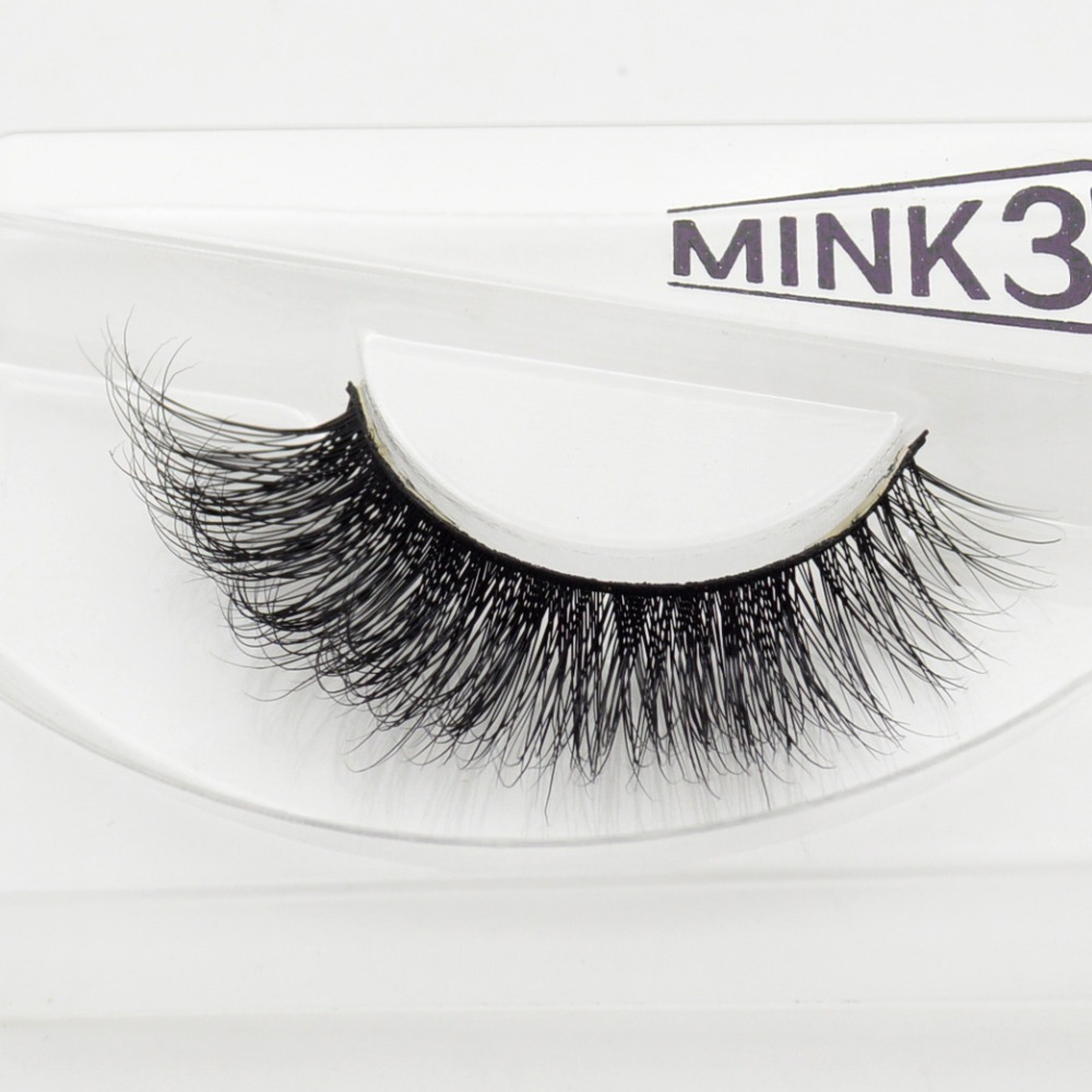 Visofree 3D Mink Eyelashes Upper Lashes 100% Real Mink Strip Eyelashes Handmade Crossing Mink Eye Lashes Extension A19