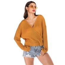 2019 New Women's Loose Solid Color Bat Sleeve Sweater Blusa De Frio Feminina Long Sleeve V-neck Winter Women Pullover Harajuku цена 2017