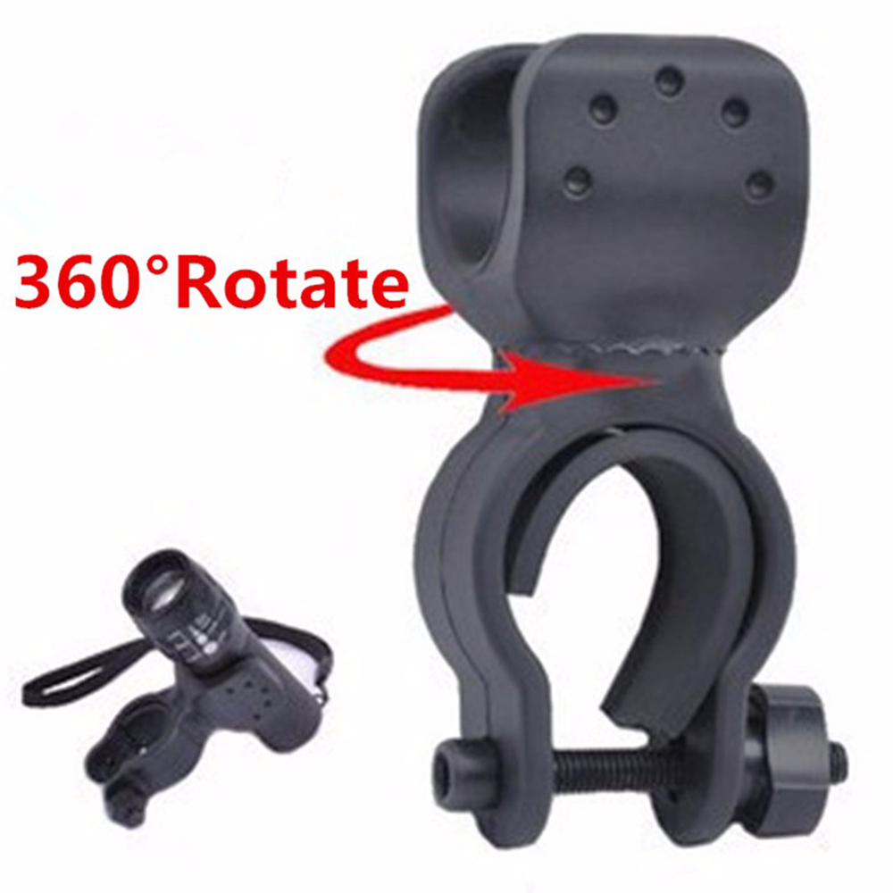 100pcs 360 Degree Bicycle LED Flashlight Mount Holder For Bicycle Torch Clip Clamp Bike phone Accessories