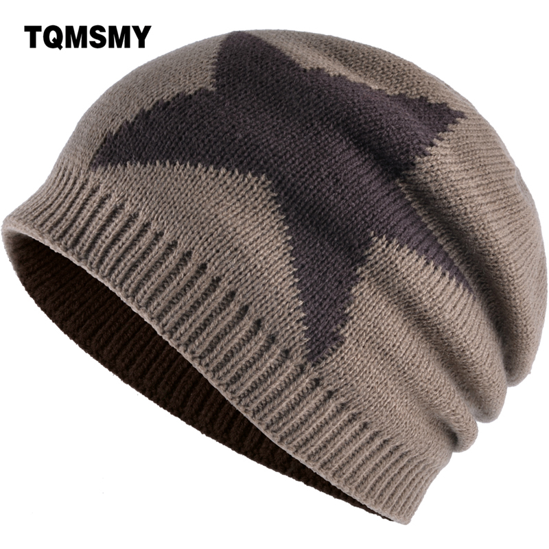TQMSMY Winter unisex men Women's Hats Beanie Knitted with Velvet Skullies Star ski Casual Cap Gorros Bonnet Casquette Hat TMS88 2016 winter women beanie adults hip hop hats diamond vogue men hats knitted ski skullies bonnet crochet casquette gorros de lana