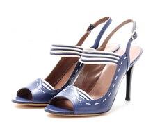 Zapatos De Novia 2015 Sommer Stil Frauen Schuhe Sandalen Günstige Modest Schnalle Hohen Dünnen Fersen Offene spitze Plus Größe Sandali Donn