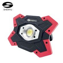 Shenyсветодио дный U LED кемпинг фонари палатка фонарик 10 Вт 12 В в USB перезаряжаемые запасные аккумуляторы для телефонов прожектор 18650 батарея Spotlight портативный лампа