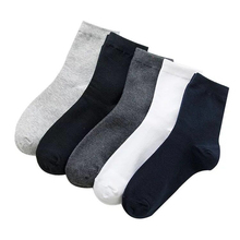 5 Pairs/lot Large Size Men Socks Cotton 42,43,44,45,46,47,48 Solid Color Fashion Casual High Quality Classic Business Male Socks