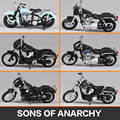 Maisto 1:18 Harley Sons of Anarchy 1946 FL Knucklehead 2006 FXDBI Dyna Street Bob Dyna Super Glide MOTORCYCLE BIKE Model