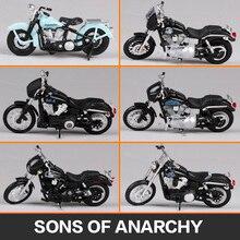 Maisto 1:18 Harley Sons of Anarchy 1946 FL Knucklehead 2006 FXDBI Dyna Street Bob Dyna Super Glide MOTORCYCLE BIKE Model
