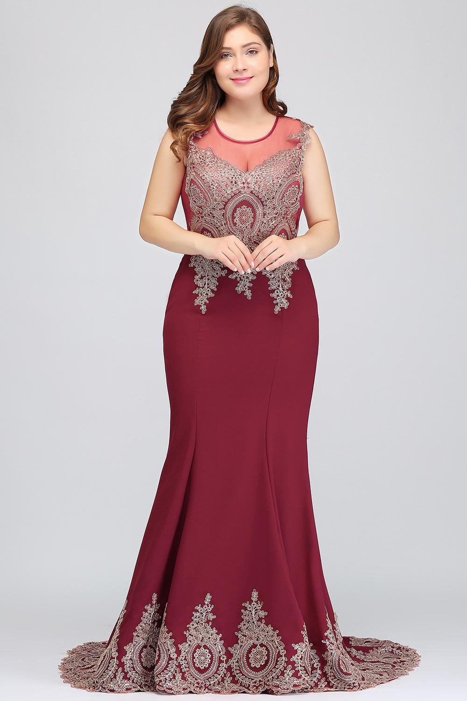HTB1yL2geH_I8KJjy1Xaq6zsxpXa8Plus size Evening Dress Burgundy Formal Gown