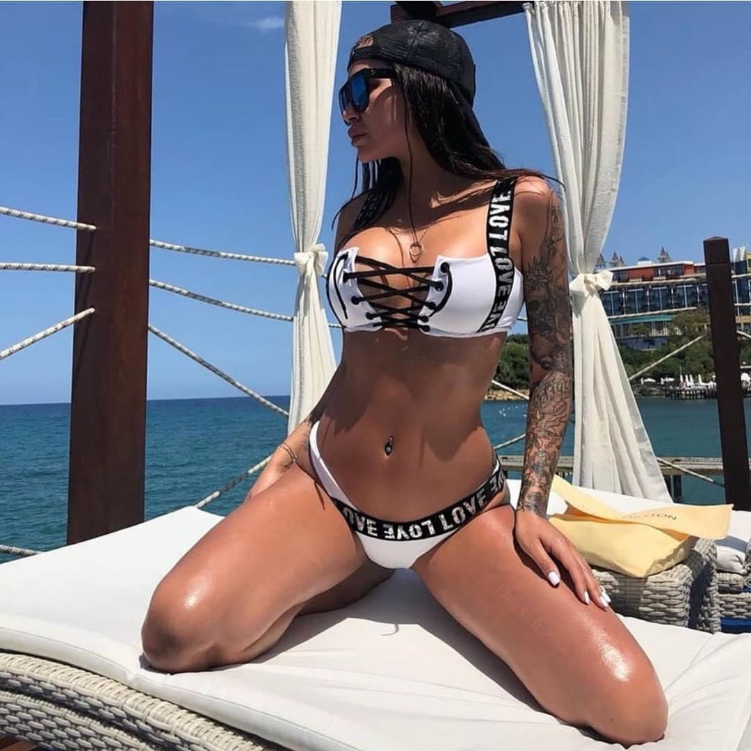 Aliexpress Com Buy Jeanne Love 2019 New Arrival Best: Aliexpress.com : Buy ESSV 2019 Letter Bikini Set Women