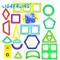 1 pc estilo diferente acessórios crianças brinquedos educativos blocos de construção magnético rolo designer 3d diy modelos lightaling