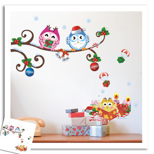 Sale Wallpaper Roll The Baby Rooms Stickers Happy Owls On Christmas Dayfree Shipping