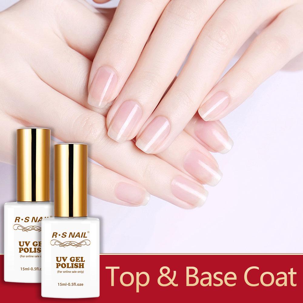 Rs Nail: RS Nail 15ml Top And Base For Nails Gel Nail Polish Peel