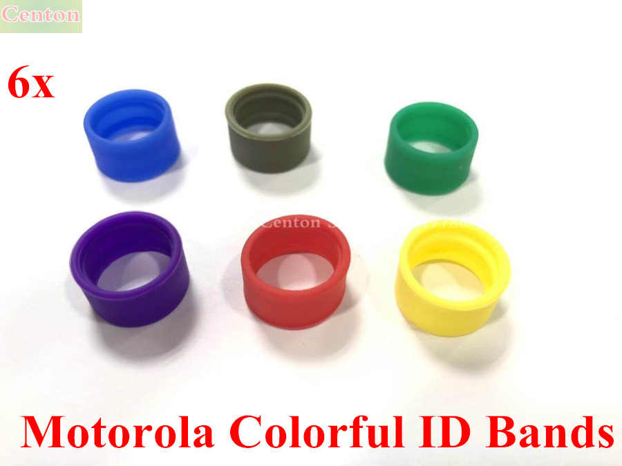 6x Color bandas ID distinguir para Motorola antena XPR3500 XPR7380 XPR7550 P8668 P8268 P6600 Radio portátil Walike talkies
