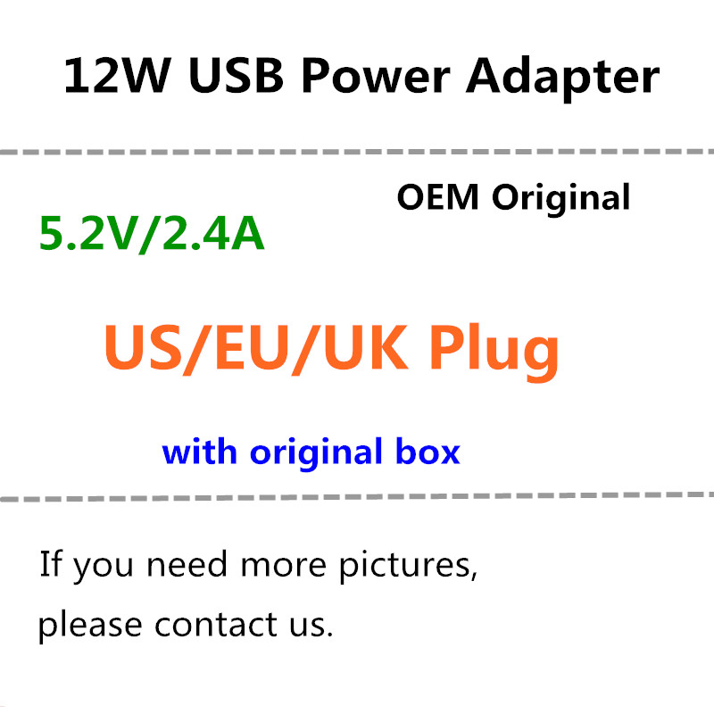 20pcs lot EU US UK plug 12W USB Power Adapter AC home Wall Charger 5 2v