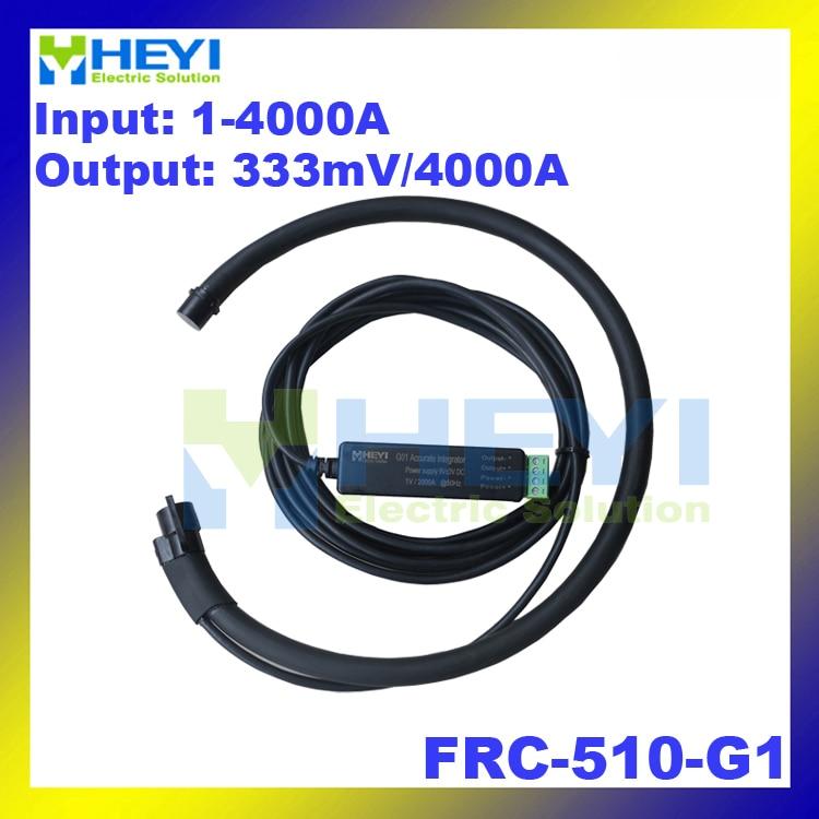 цена на Black Red Yellow flexible rogowski coil Rated current 4000A Output: 333mVrms rogowski sensor with rogowski Integrator