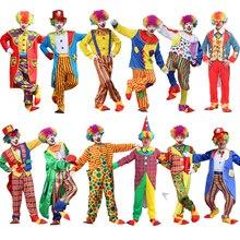 Halloween costumi degli uomini Divertente Circo Impertinente Arlecchino degli uomini Uniformi di Vestito Operato Dal costume Cosplay per Gli Uomini adulti Donne Costume Del Pagliaccio