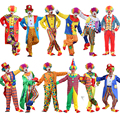 NoEnNameNull Holiday Variety Funny Clown Costume Adult Woman/Man Joker Costume Cospaly Party Dress Up Clown Suit Costumes