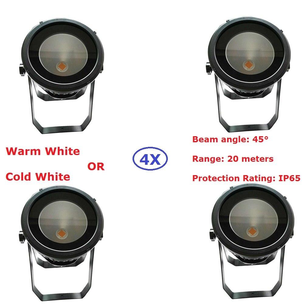 New Arrival 4XLot Waterproof LED Par Light COB 200W High Power Aluminium Shell DJ DMX Led Beam Wash Strobe Effect Stage Lighting