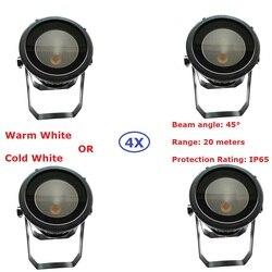 New Arrival 4XLot wodoodporna LED lampa Par COB 200W wysokiej mocy aluminiowa powłoka DJ DMX Led do mycia efekt stroboskopowy oświetlenia scenicznego