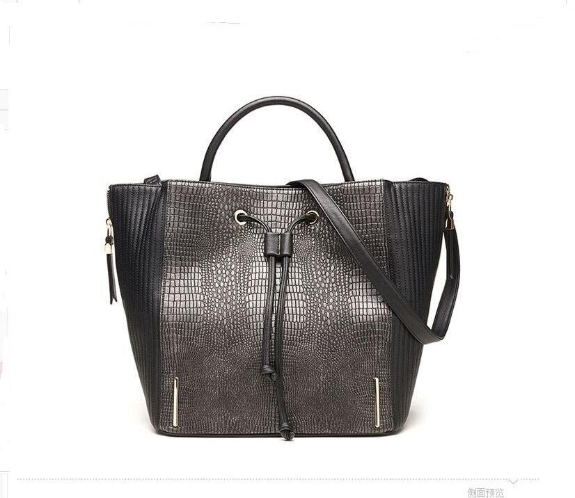 RUILANG New WOMEN Fashion Luxury Alligator Large Tote Bag Designer Shoulder Bags Crossbody Bag Ladies PU Leather Hand Bags