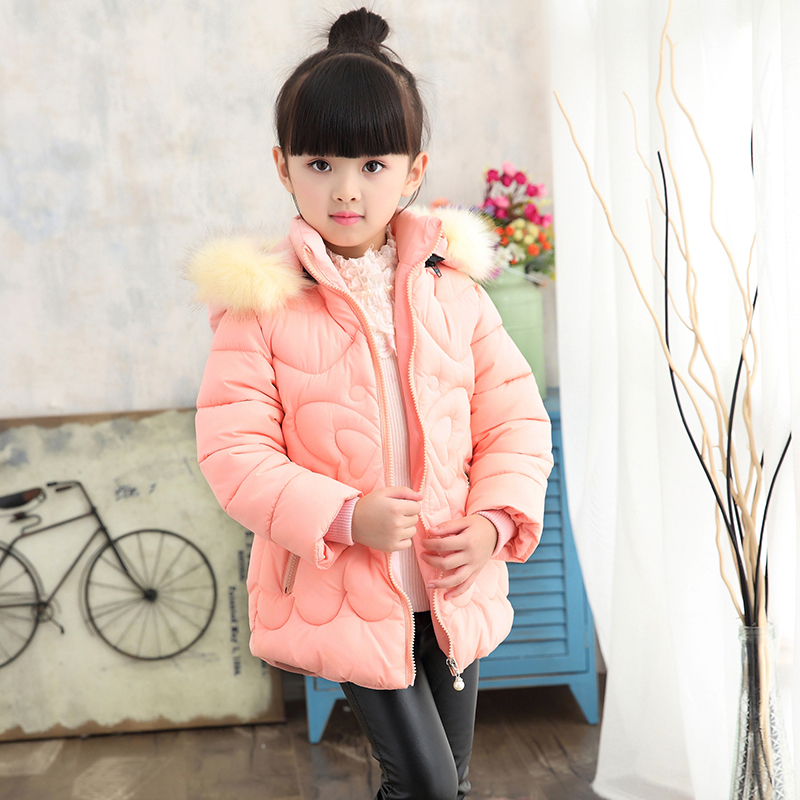 2017 NEW hot arrival girl real fur cotton jakcet coat children winter outwear kids winter jacket New High quality 2016 new mori girl high quality sweep lace fur coat
