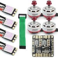 Мини RC гоночный Drone 4x Emax rs2306 2750kv и мини ESC dshot bls пуля 30A бесщеточный Двигатель ESC комбо + Мощность распределительный щит