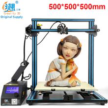 CR-10 CREALITY 3D de Gran Tamaño de Impresión 500*500*500mm Fácil de Montar Impresora 3D Kit DIY Aluminio Climatizada cama + Placa de Vidrio de Borosilicato(China (Mainland))