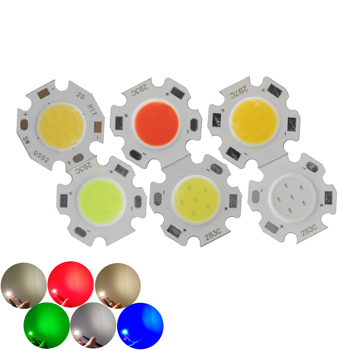 big sale 20mm 11mm Round Aluminum LED Light Source Module 3W 5W 7W blue green red COB lamp Flip chips for spot light image