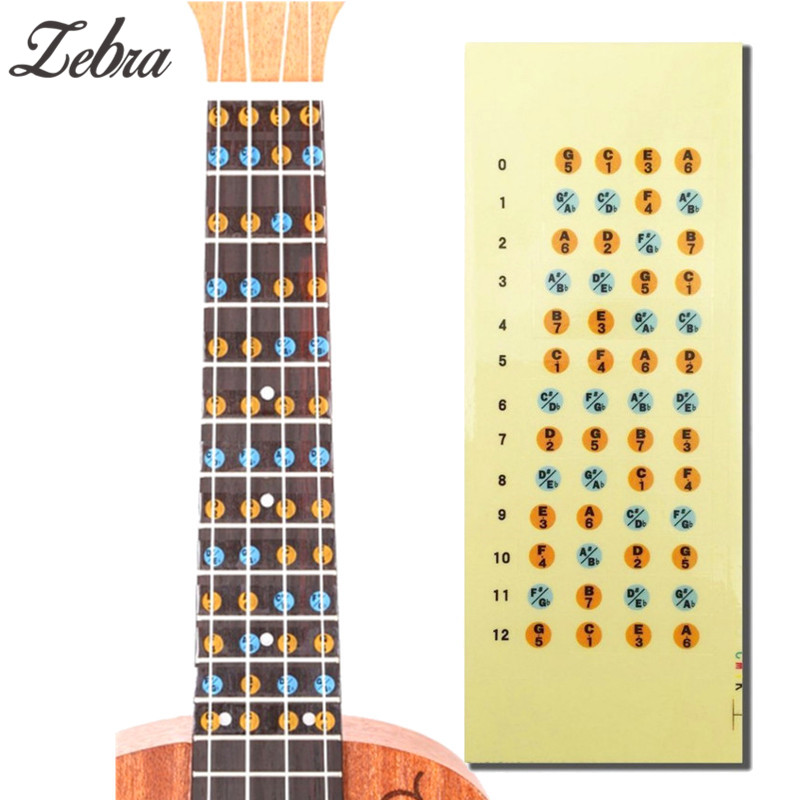 Guitar Parts & Accessories Bright 1 Pcs Zebra Ukulele Fretboard Note Map Sticker Uke Ukelele Fingerboard Frets Decals Musical Scale Note For Beginner Practice Warm And Windproof