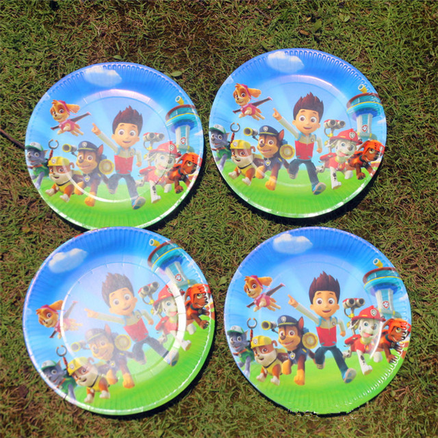 10pcs 7inch Cartoon Dog Pawed Patrolling Paper Plate Printing Round Plates Theme Party Kids Girl Boy  sc 1 st  AliExpress.com & 10pcs 7inch Cartoon Dog Pawed Patrolling Paper Plate Printing Round ...