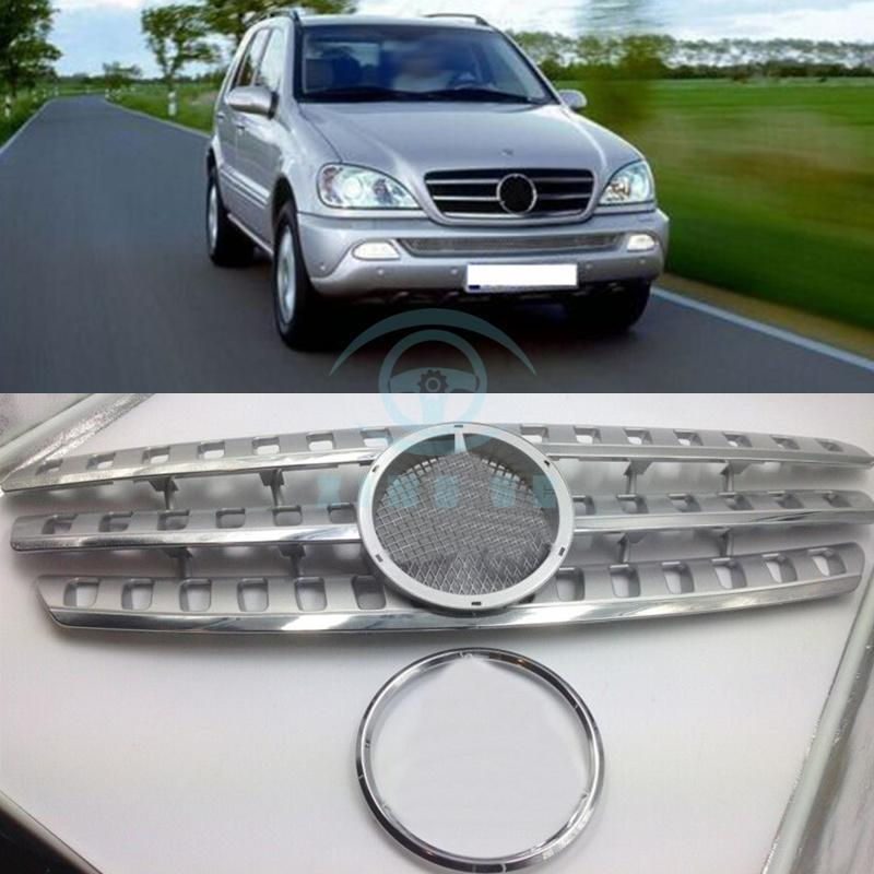 Chrome for Mercedes W163 ML320 M class 1998 2005 front grille mesh grill vent|chrome mercedes|chrome vent|chrome front grille - title=