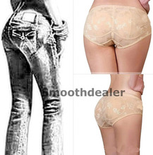 Removable Padded Lace Seamless Butt Hip Enhancer Shaper Panty Booster Underwear