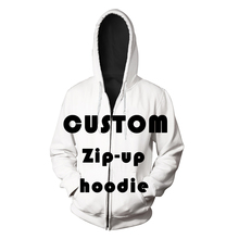 2019 Customize Fashion 3D All Printed Men Pockets Zip-Up Hoodie Casual Hipster Streetwear Zippper Jumper Unisex factory Outlet