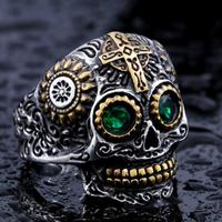 FirstQueen High Quality Stainless Steel Ring Men Skull Viking Rings Man S 4 Colour Halloween Man