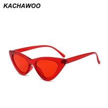 Pcs 6 Kachawoo atacado preto pequeno triângulo gato olho quadro óculos de  sol das mulheres doces 5b8dc2d1f0