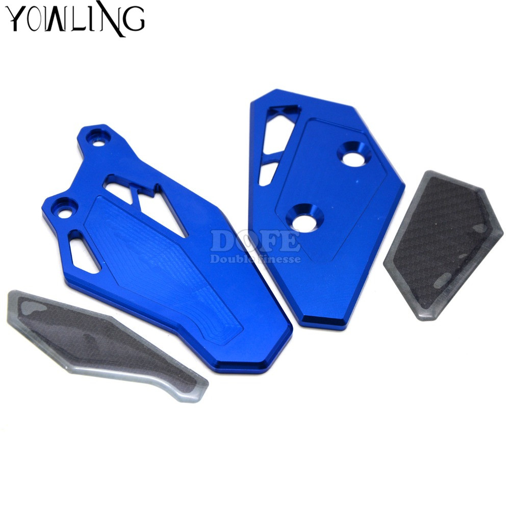 New Motorcycle CNC Aluminum Footrest Rear set Foot Peg Plate Guard  For Yamaha YZF R3 R25 52015 2016 YZF R25 2013 2014 2015 2016 bjmoto motorcycle rear fender tire wheel plate mudguard chain cover for yamaha yzf r25 2013 2017 yzf r3 mt25 mt03 2015 2017